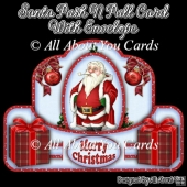 Santa Push N Pull Card & Envelope