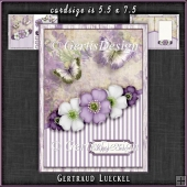 Vintage Dream soft colors flowers purple 1109