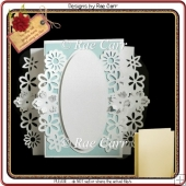 930 Floral Fold Back Card Multiple MACHINE Formats