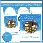 Little Christmas Bakers Framed Pyramage Card