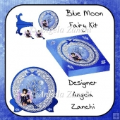 BLUE MOON FAIRY PLATE CARD STAND & BOX