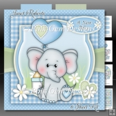 Ella With Heart Balloon Blue Mini Kit