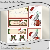 Cute Mouse Christmas Easel Card