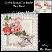 Garden Bouquet Top Stacker Card Front
