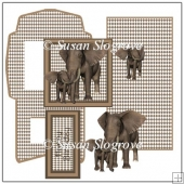 Elephant And Baby Easel Card