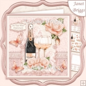 CHAMPAGNE CELEBRATIONS PEARL 7.8 Decoupage & Insert Mini Kit