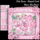 Pink Roses - Shaped Card