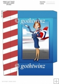 Air Hostess Blue and Red Mini Gift Bag