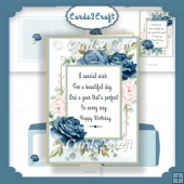 Birthday Blue rose card set