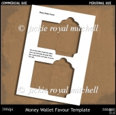 Money Wallet Favour Template