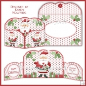 Xmas Trimmings Santa Wrap Around Gatefold Card