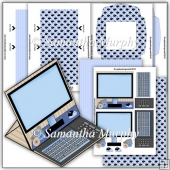Blue Computer PDF Easel Card Download