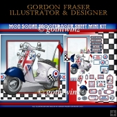 Mod Squad Scooter Four Sheet Mini Kit