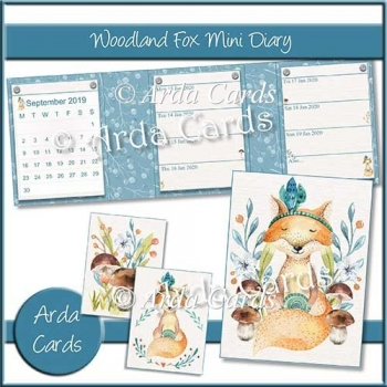 Woodland Fox Mini Diary