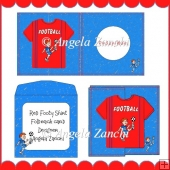 RED FOOTY SHIRT FOLDBACK CARD