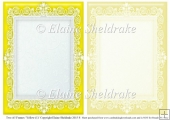 2 x A5 Yellow (1) Lace Frames for Card Making & Scrapbooking