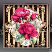 Red Pink Roses for All Occasions Card Mini Kit