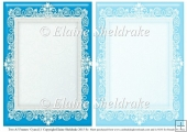 2 x A5 Cyan (1) Lace Frames for Card Making & Scrapbooking