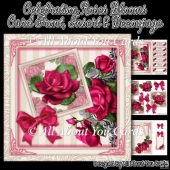 Celebration Roses Blooms Card Front