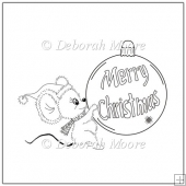 Holly Mouse with Bauble