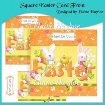 Square Easter Card Front