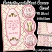 Corsette and Shoes Cameo Card