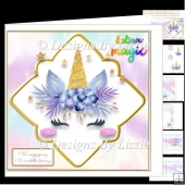 My Little Unicorn 6 Birthday Card Mini Kit