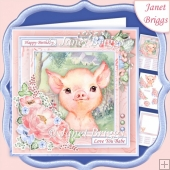 BABY PIGLET 7.5 Decoupage & Insert Mini Kit