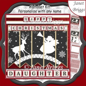 ANGEL & DEER Christmas 7.5 Quick Card Kit Create Any Name
