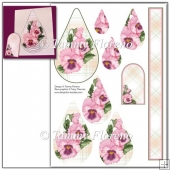 Friendship Flowers (Pink Pansy) Teardrop Pyramage