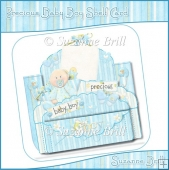 Precious Baby Boy Shelf Card