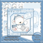 Polar Snowflake Bear Octogon Foldback Card