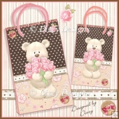 Bouquet Bear Gift Bags - 2 sizes