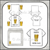 HAPPY 'BEER' DAY T- SHIRT CARD