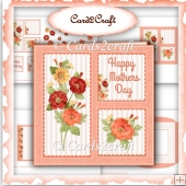 Poppies square card set