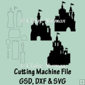 Build a Castle Cutting Machine File GSD SVG DXF