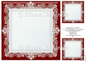 "Burgundy (1) Lace Frames - One 8"" x 8"" and Two 3"" x 3"""