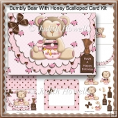 Bumbly Bear With Honey Scalloped Card Kit