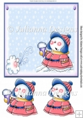 8X8 Snowman Topper/Card Front