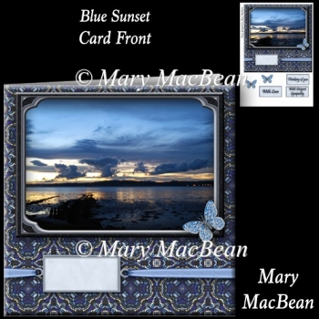 Blue Sunset Card Front