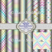 12 x 12 Rainbow Backing Papers Set One