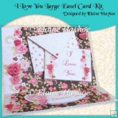 I Love You Large Easel Card Kit