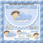 New Baby Boy Scalloped Card