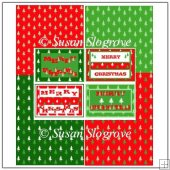 Christmas Card Fronts with Matching Backing Sheets
