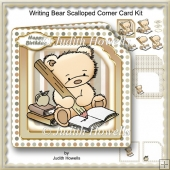 Writing Bear Scalloped Corner Card Kit