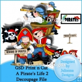 GSD Print n Cut A Pirates Life 2 Decoupaged Cutting File