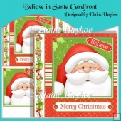 Believe in Santa Cardfront with Pyramage