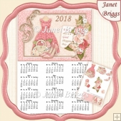 GOOD SHOPPING DAY 2018 A4 UK Calendar with Decoupage Kit