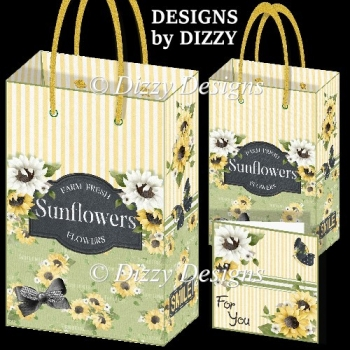 Sunflower Gift Bags & Gift Cards