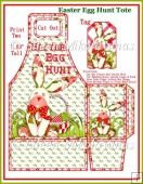Benjamin Bunny Easter Egg Hunt Tote and Tag